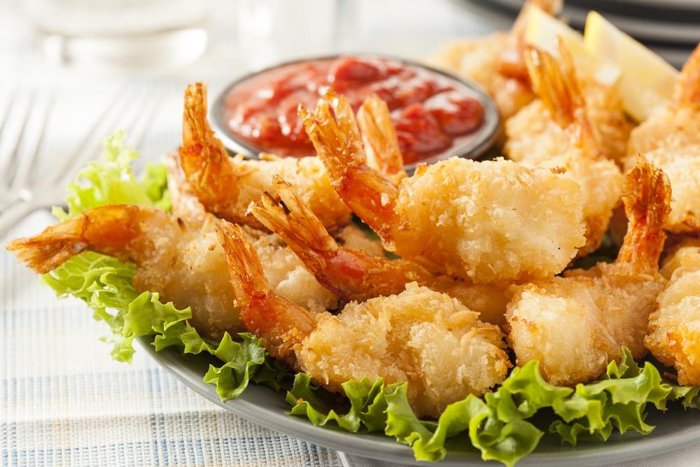 Delicious fried shrimp.