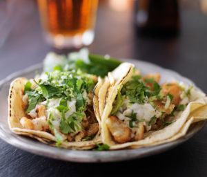 Tasty fish tacos.