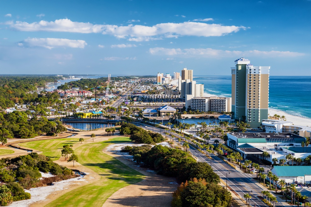 A beautiful photo of Panama City Beach, FL.