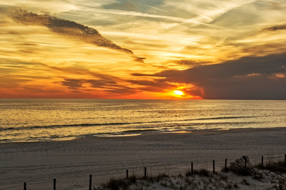 Panama City Beach at sunset