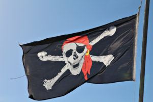 pirate flag on boat tour in panama city
